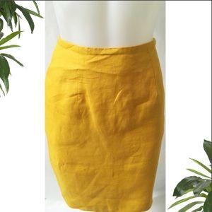 Vintage Skirts - Yellow Pencil Skirt Size 8P